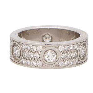 Vintage Cartier Diamond Paved Love Ring