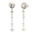 Contemporary Style Diamond Drop Earrings