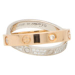 Vintage Cartier Double Band Diamond Love Ring