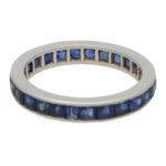 Vintage Sapphire Full Eternity Ring