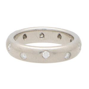 Vintage Tiffany & Co. 'Dots' Diamond Full Eternity Band