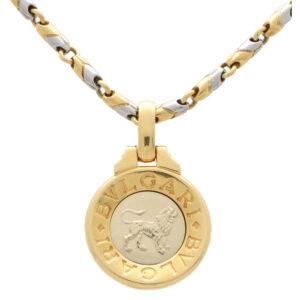 Vintage Bvlgari Leo Zodiac Pendant and Chain