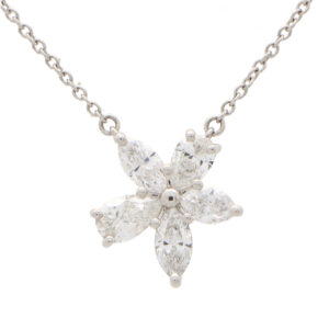 Vintage Tiffany & Co. Victoria Large Diamond Pendant