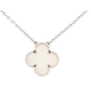 Vintage Van Cleef & Arpels Mother of Pearl Alhambra Pendant