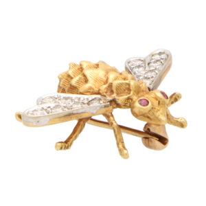 Vintage Tiffany & Co. Ruby and Diamond Bug Brooch