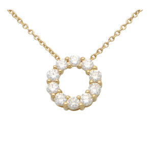 Contemporary Diamond Circle Pendant