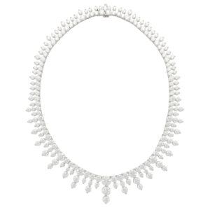 Certified Vintage Graduating Diamond Necklace