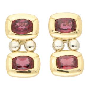 Vintage Antonini Garnet Drop Earrings
