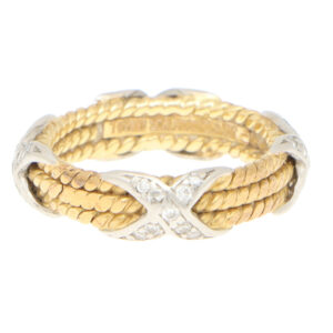 Vintage Tiffany and Co. Schlumberger Three Rope X Ring