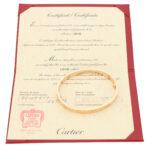 Vintage Cartier Love Bangle in Rose Gold Size 17