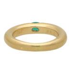 Vintage Cartier Ellipse Emerald Band Ring