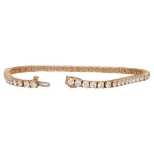 Contemporary 5.82ct Diamond Line Bracelet