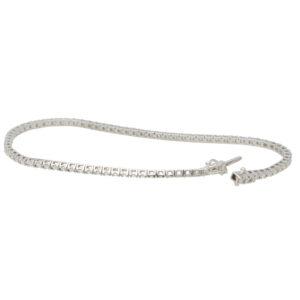 Contemporary 0.99ct Diamond Line Bracelet
