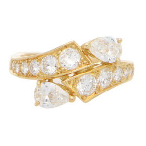 Vintage Piaget Toi-et-moi Diamond Crossover Ring