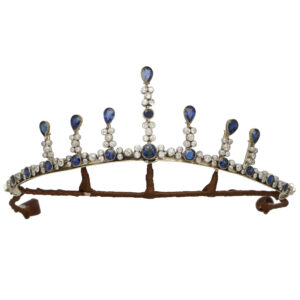 Victorian Sapphire Convertible Tiara, Necklace and Earrings